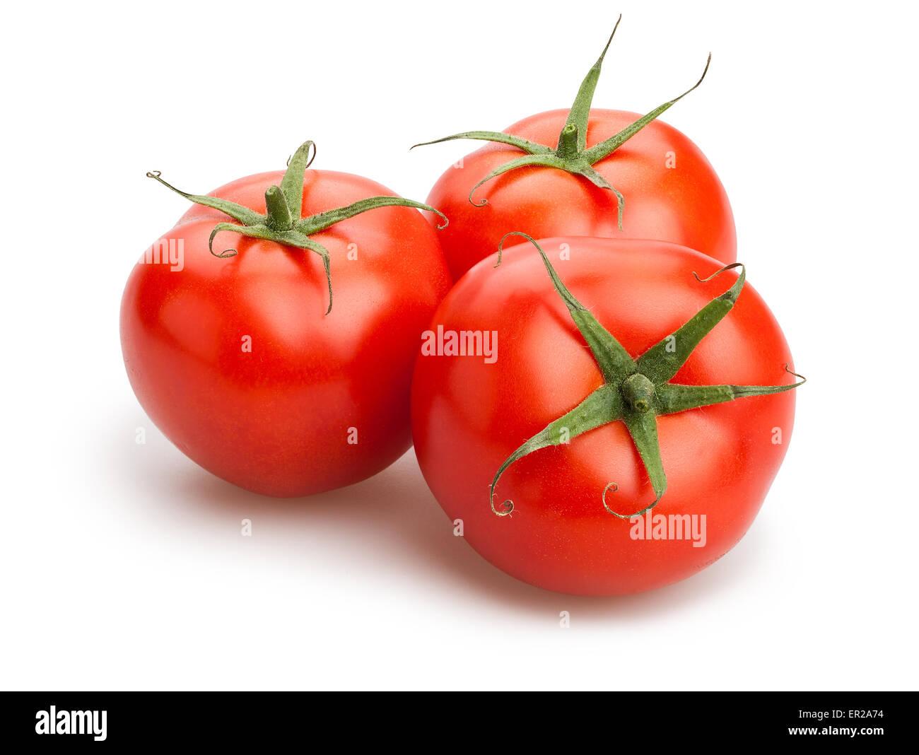 tomatoes isolated - Stock Image