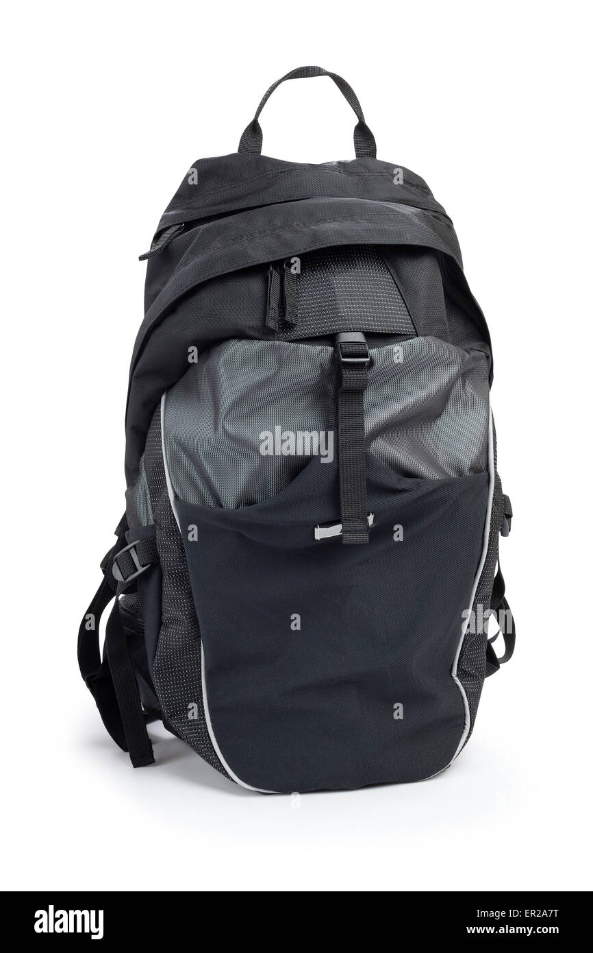 cycling backpack isolated - Stock Image
