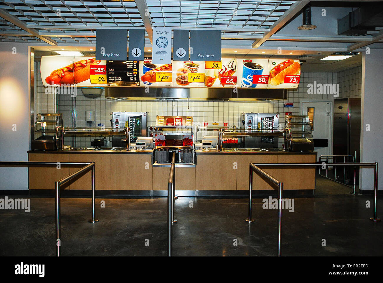 Restoration Hardware Trestle Table, Hotdog Counter At An Ikea Store Stock Photo Alamy