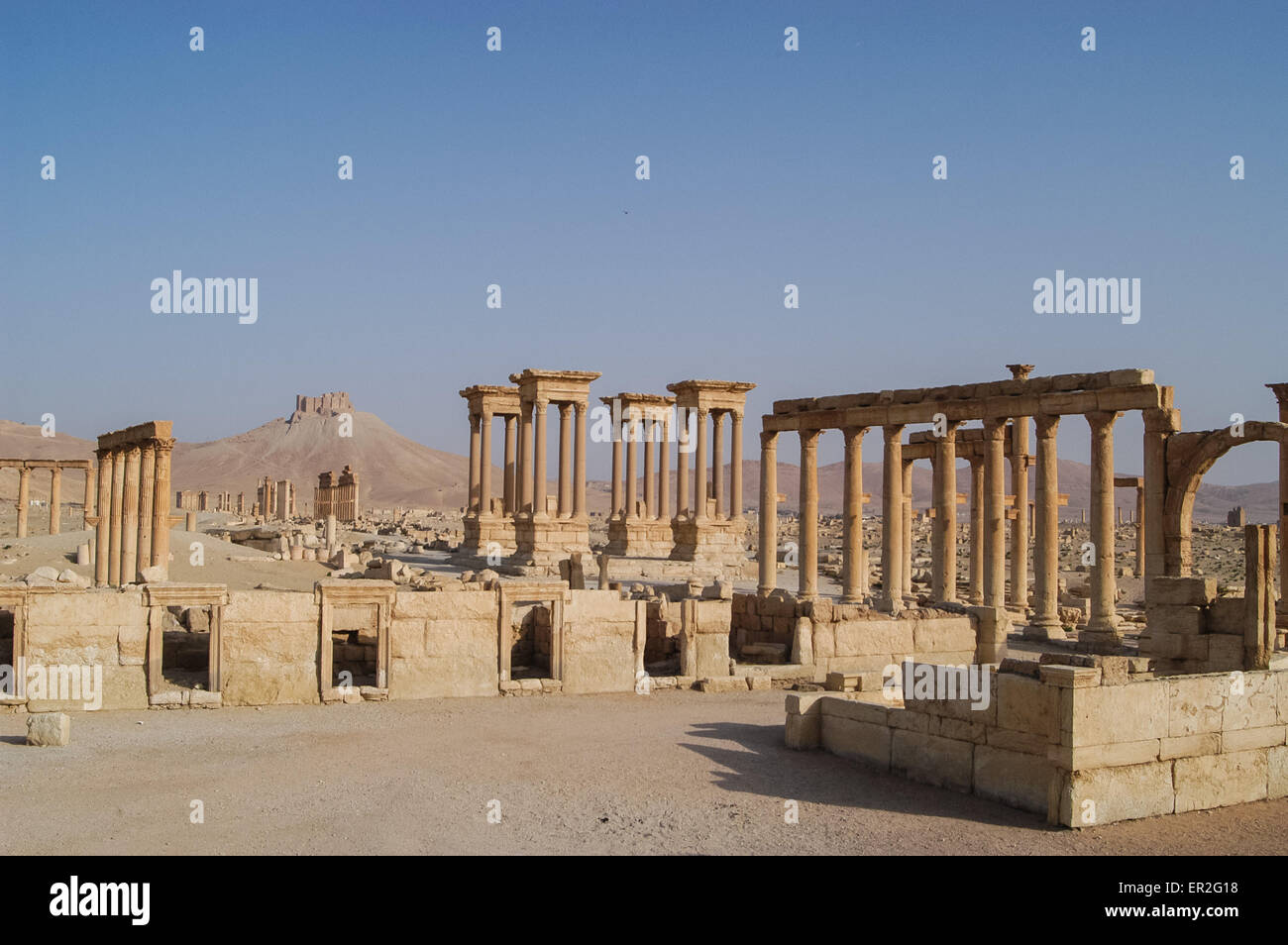Ancient Ruin City Of Palmyra In Syria A Unesco World Heritage Site