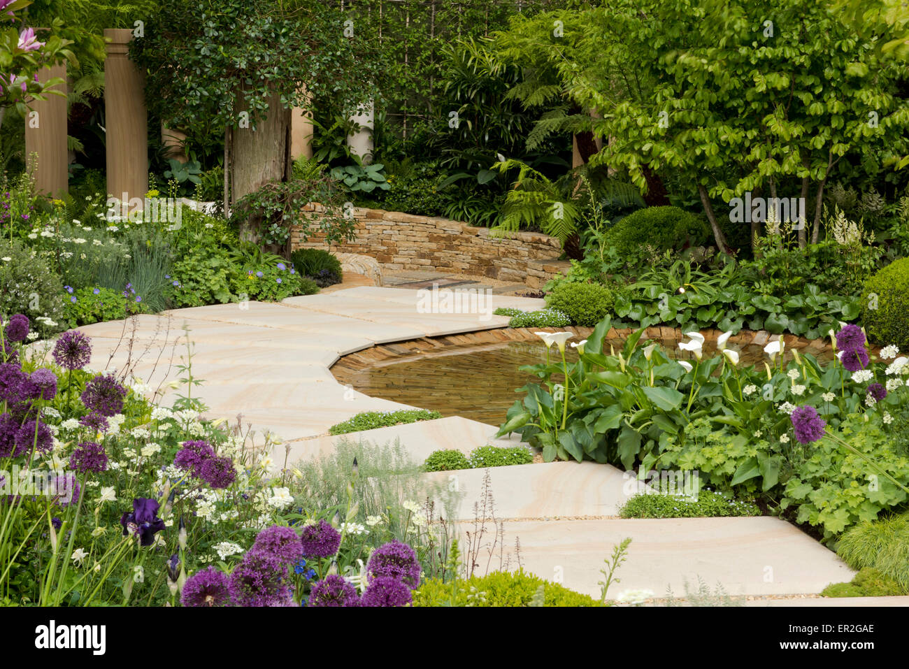 The Time In Between Garden  designed by Charlie Albone at The RHS Chelsea Flower Show, 2015, London, UK - Stock Image
