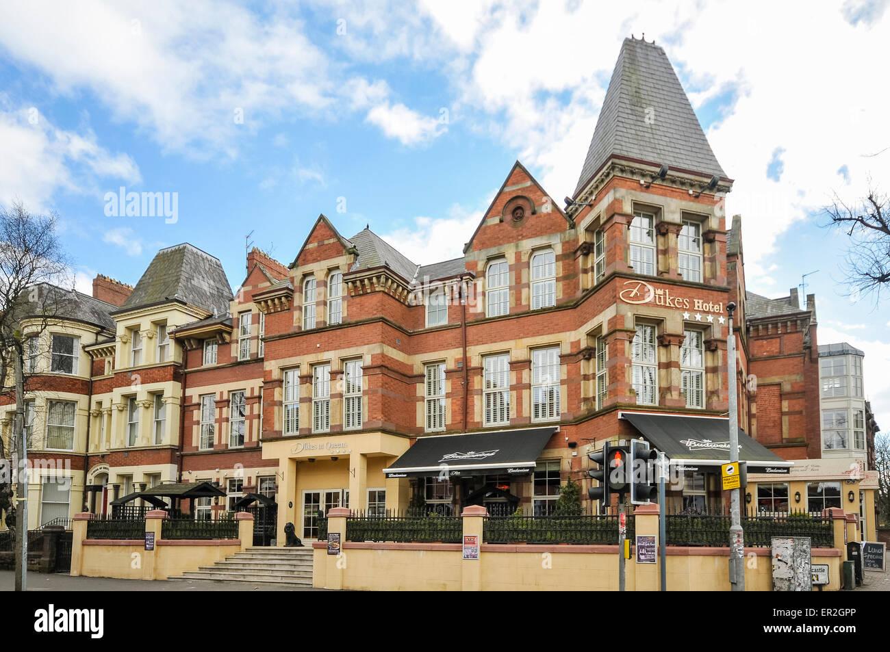 Dukes Hotel, Belfast - Stock Image