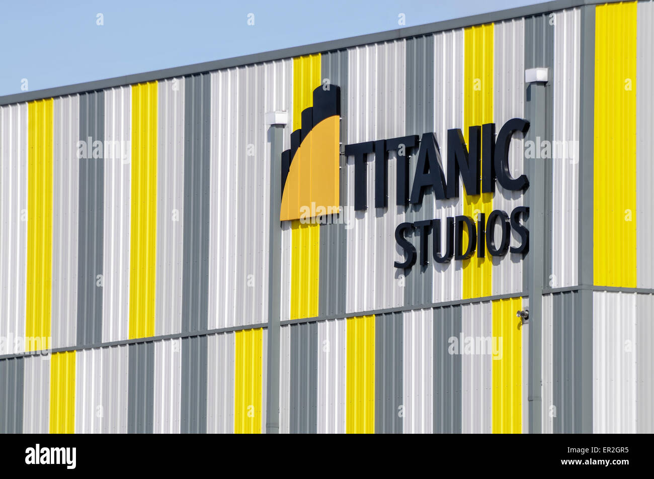 Titanic Studios, Belfast, where Game of Thrones is filmed along with many Hollywood movies - Stock Image