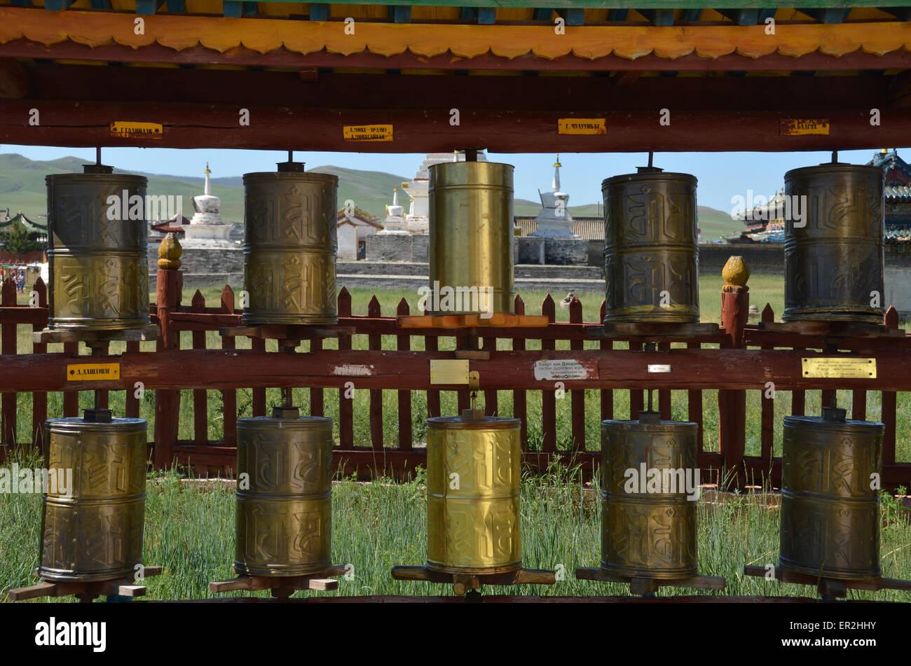 Inside the Erdene Zuu monastery complex in Karakorum, Ovorkhangai province. - Stock Image