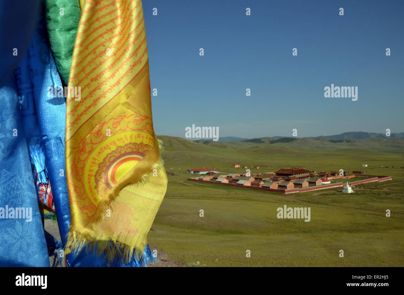 The Amarbayasgalant monastery in the northern Mongolia, Selenge province. Stock Photo