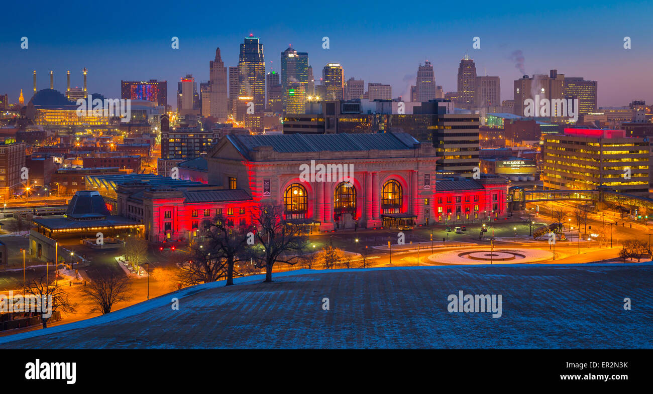 Kansas City (often referred to as K.C.) is the most populous city in the U.S. state of Missouri. - Stock Image