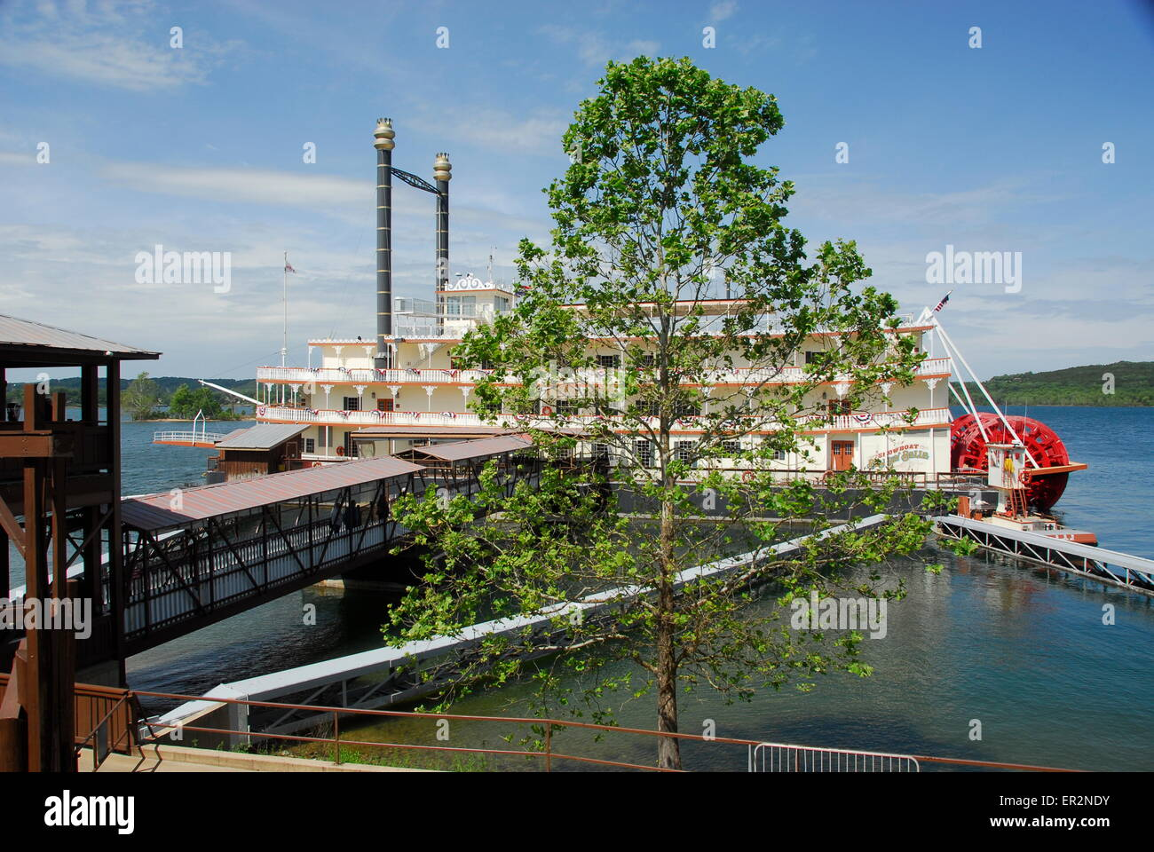 branson belle showboat on table rock lake in branson, missouri stock