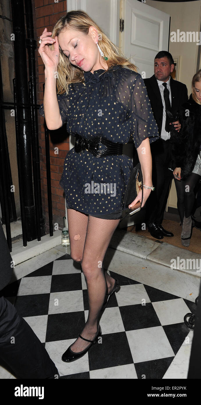 Kate Moss Leaves Marks Club After Alistair Mackie Another Man