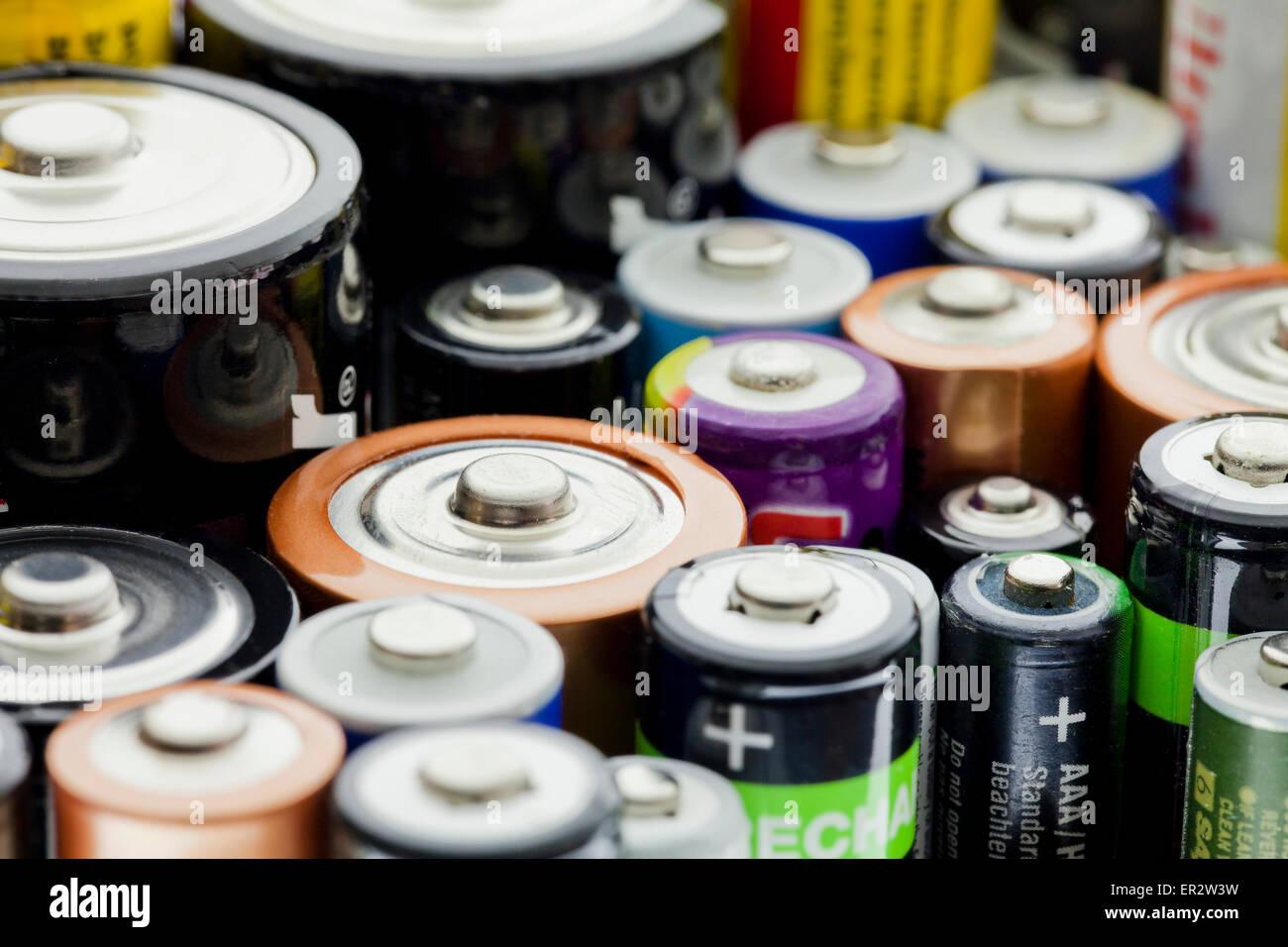 Household batteries - Stock Image