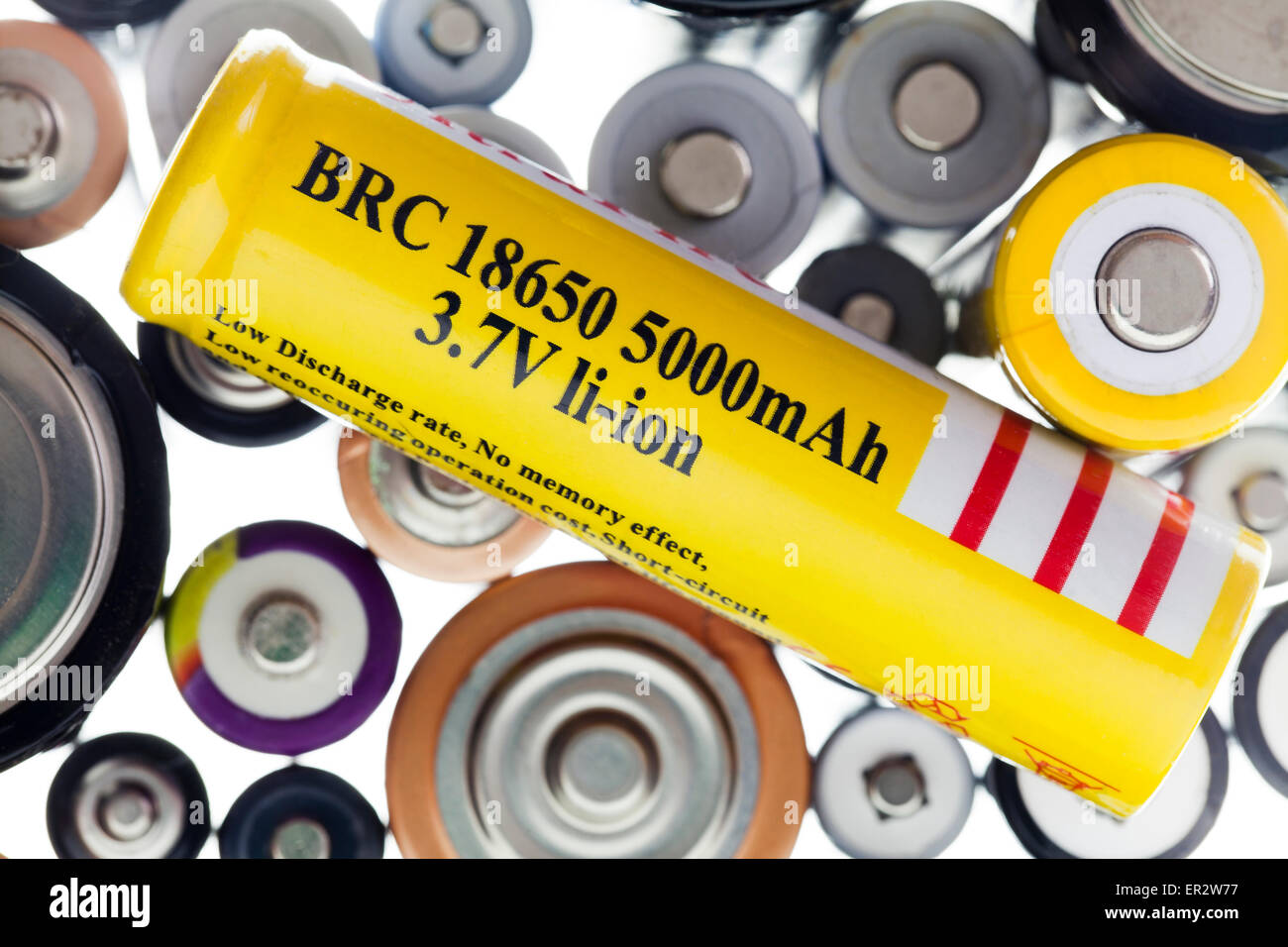 Rechargeable Lithium Ion (Li-ion) battery - Stock Image