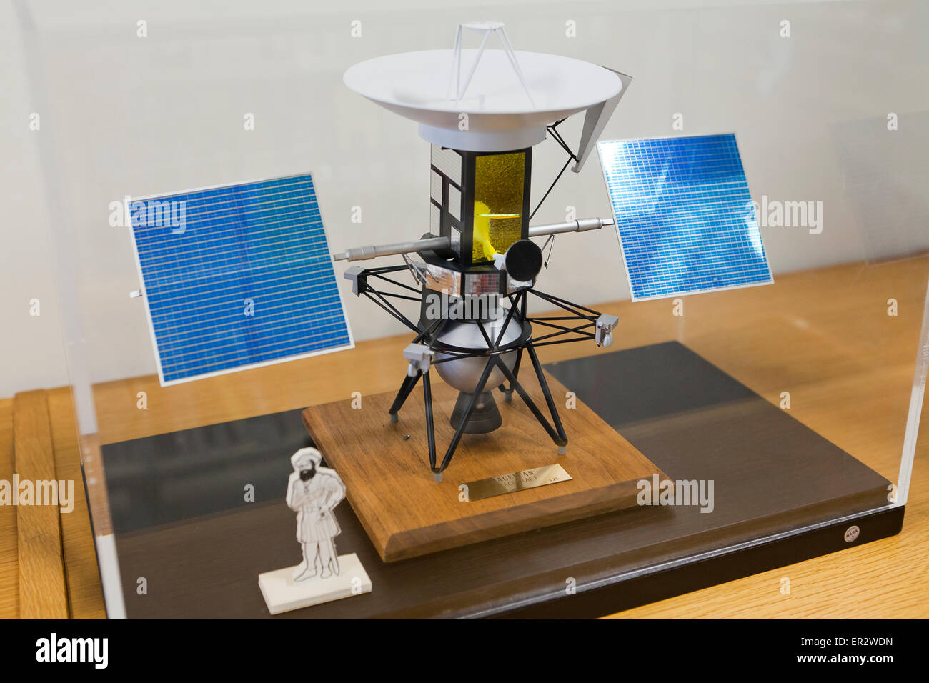 Magellan spacecraft model on table - USA - Stock Image