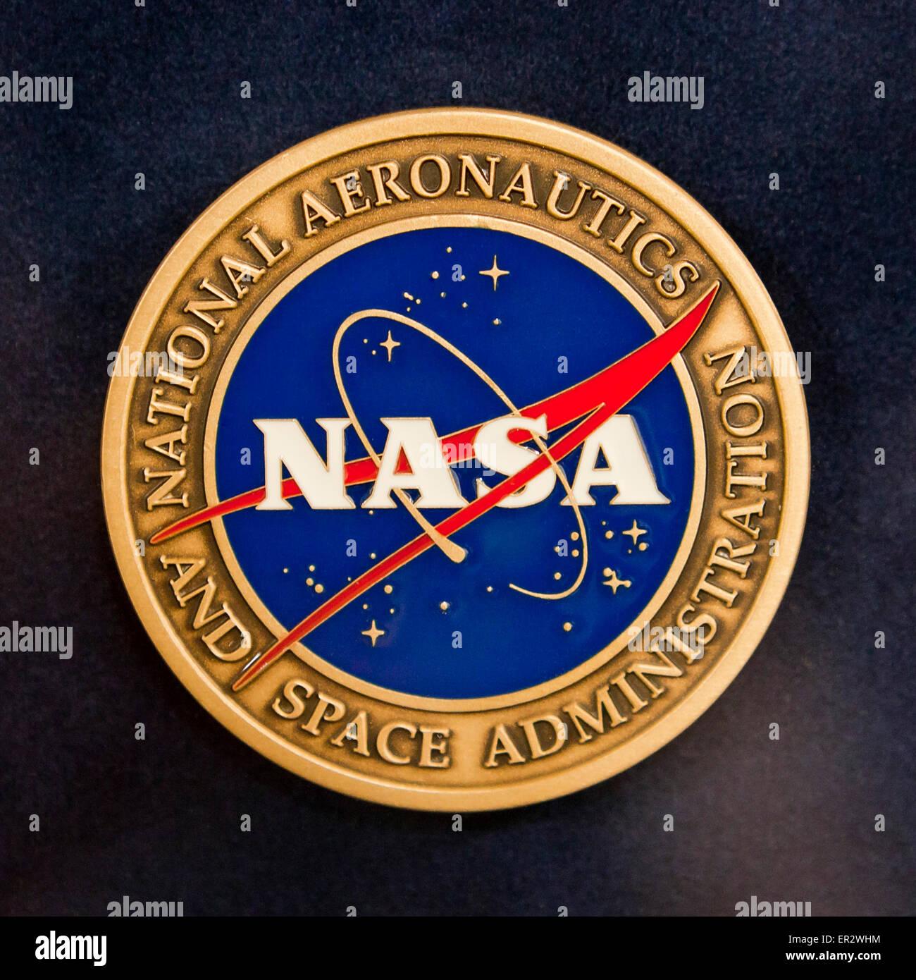 NASA seal - USA - Stock Image