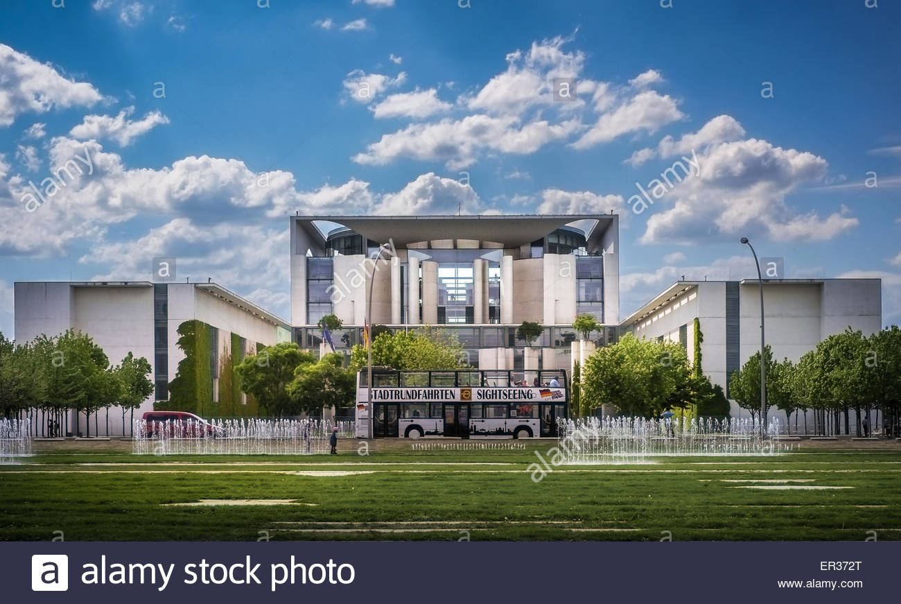 Federal Chancellery building in Berlin, Germany - Stock Image