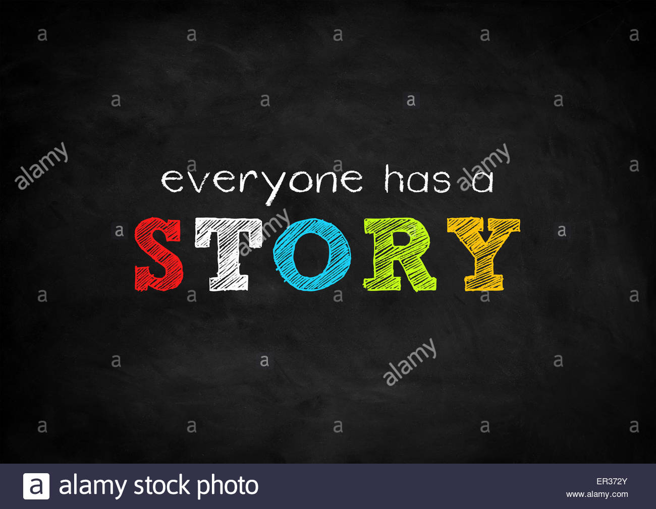everyone has a story - Stock Image