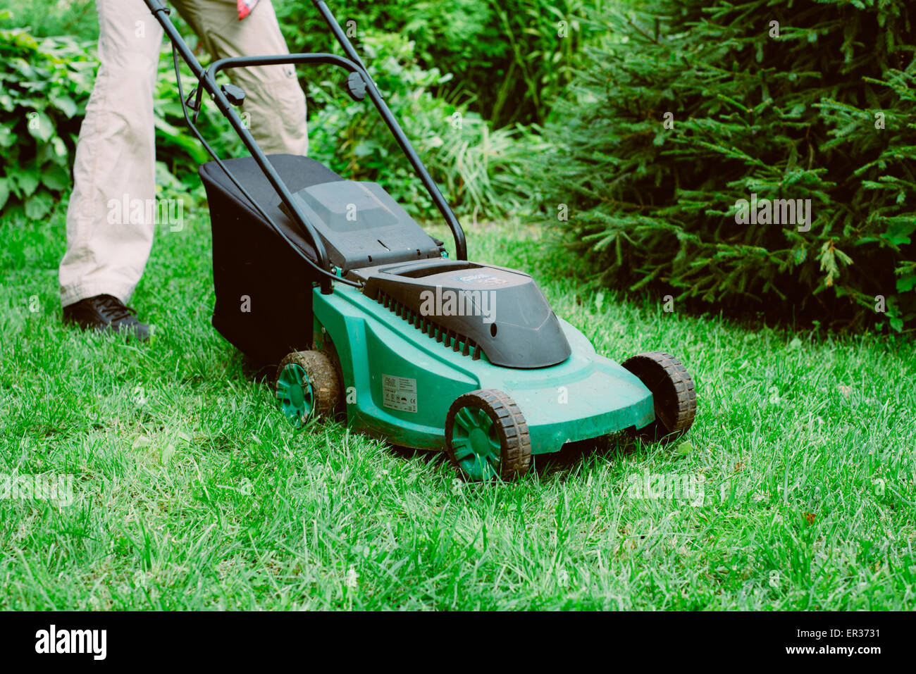 lawn mower - Stock Image