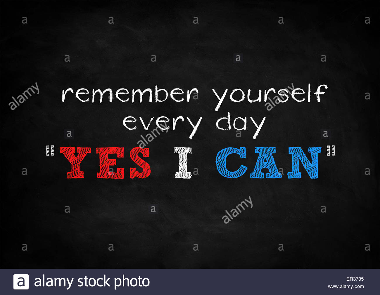 remember yourself - yes i can - Stock Image