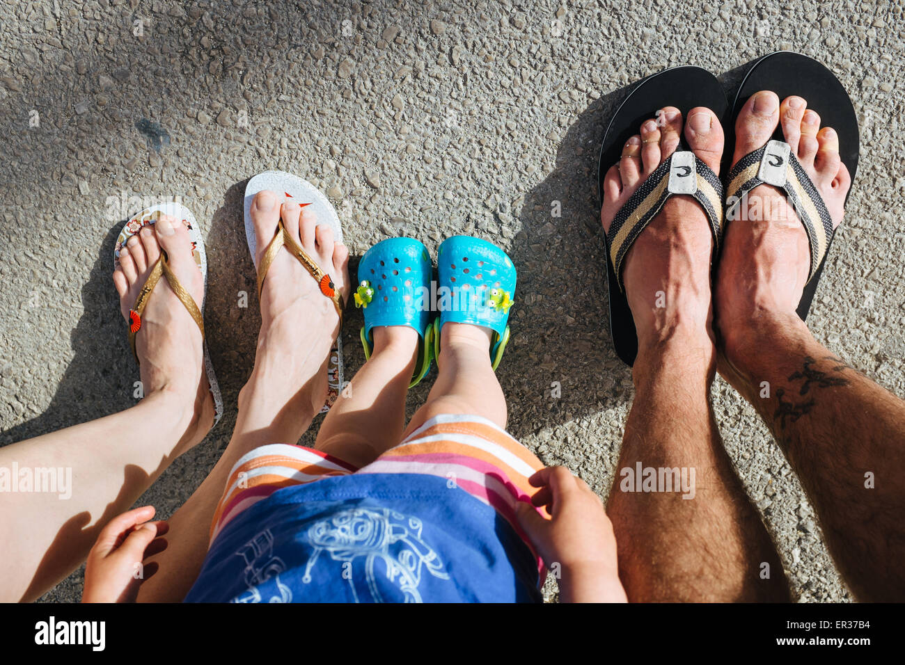 family on holidays - Stock Image