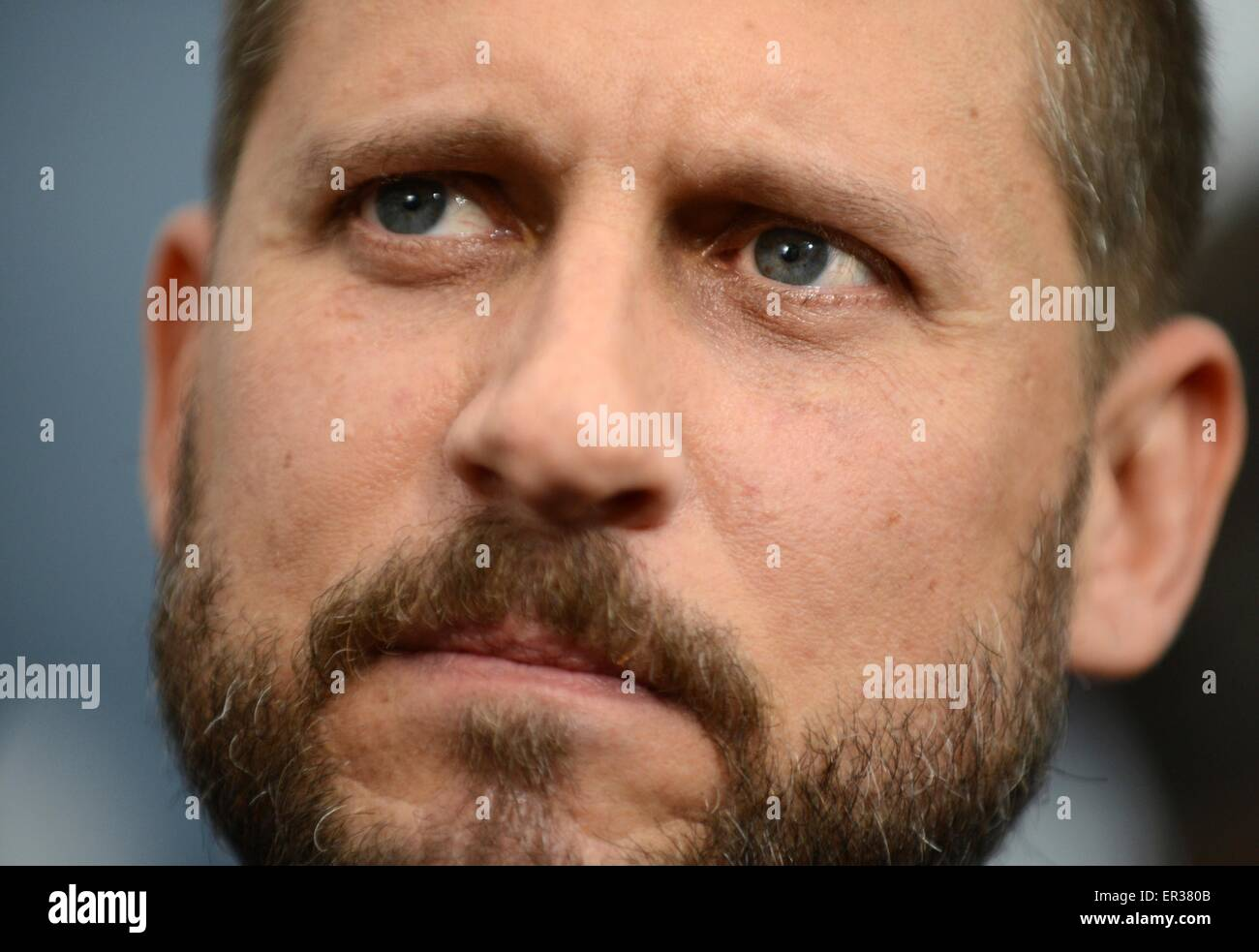 Director David Ayer at the premier of the blockbuster movie Fury at the Newseum October 21, 2014 in Washington D.C. - Stock Image