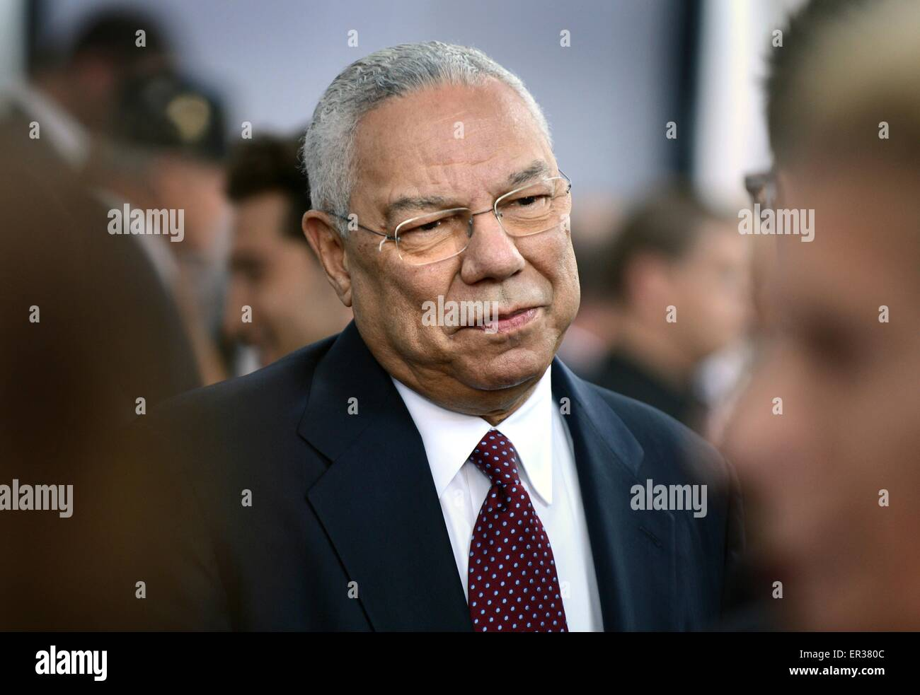 Retired Chairman of the Joint Chiefs of Staff and former Secretary of State, General Colin Powell at the premier - Stock Image