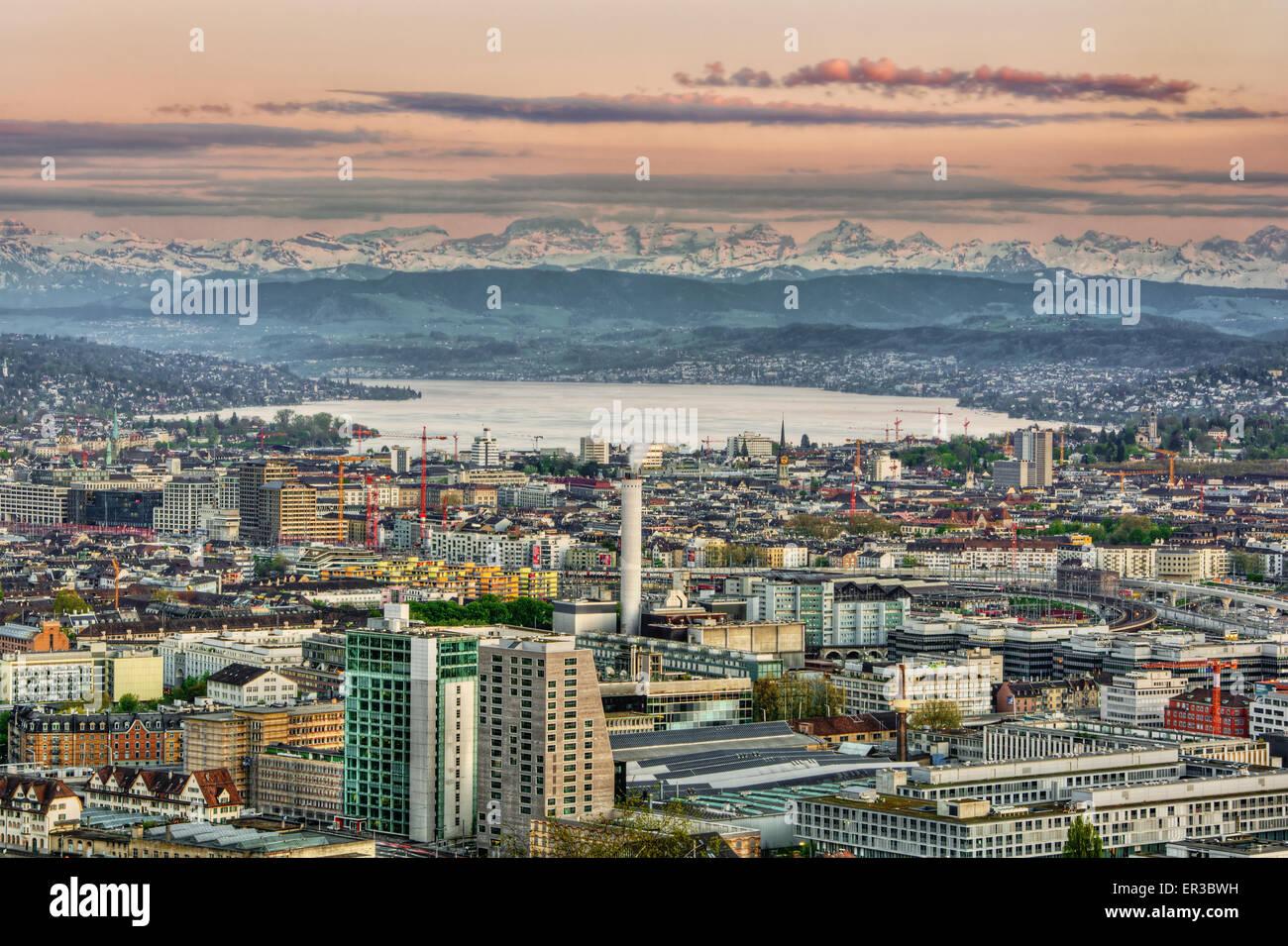 Zurich skyline, Switzerland - Stock Image