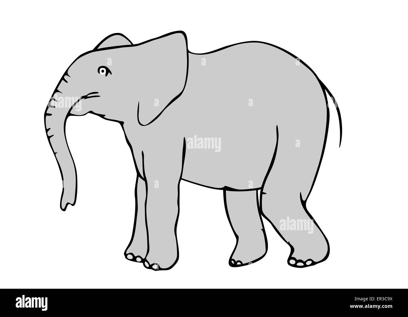 Elephant Trunk Stock Vector Images - Alamy
