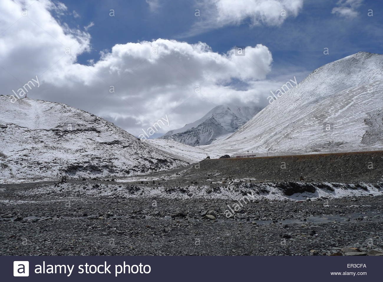 Glacier, Himalayas, Tibet, China - Stock Image