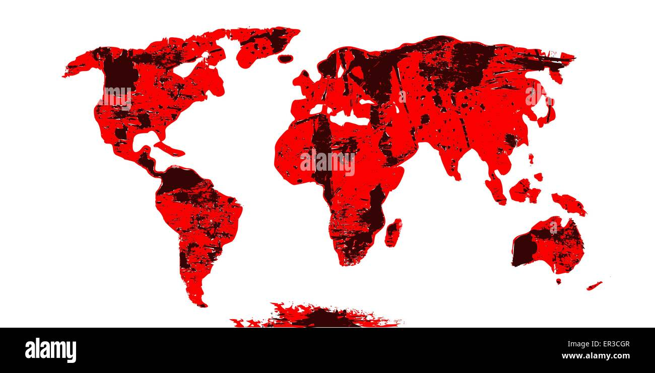 Vector world map continents in grunge style stock vector art vector world map continents in grunge style gumiabroncs Image collections