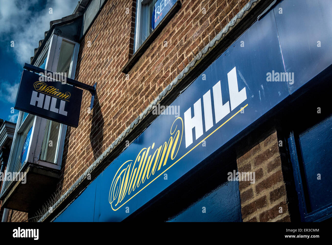 William Hill betting shop sign - Stock Image