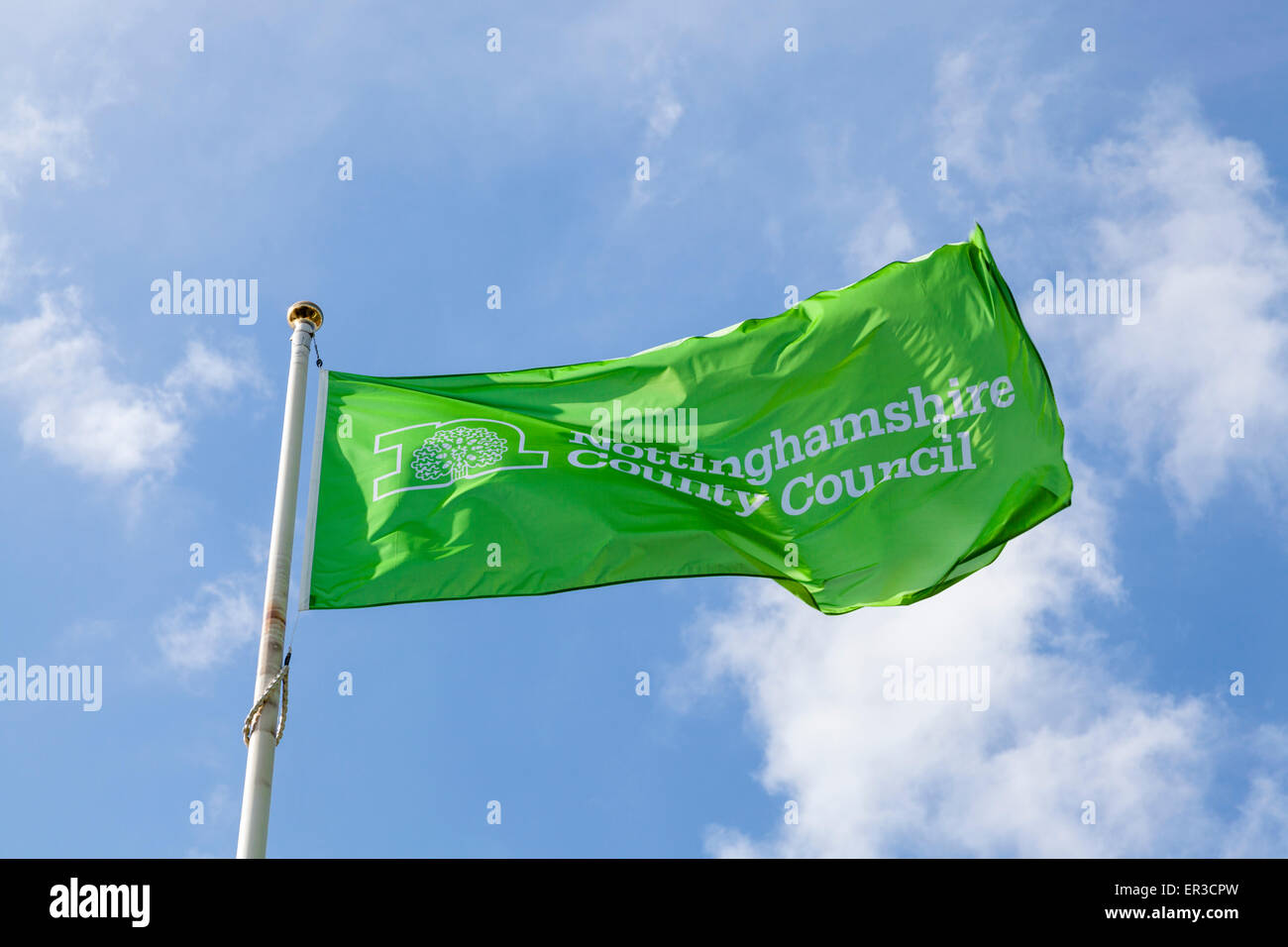 Nottinghamshire County Council flag - Stock Image