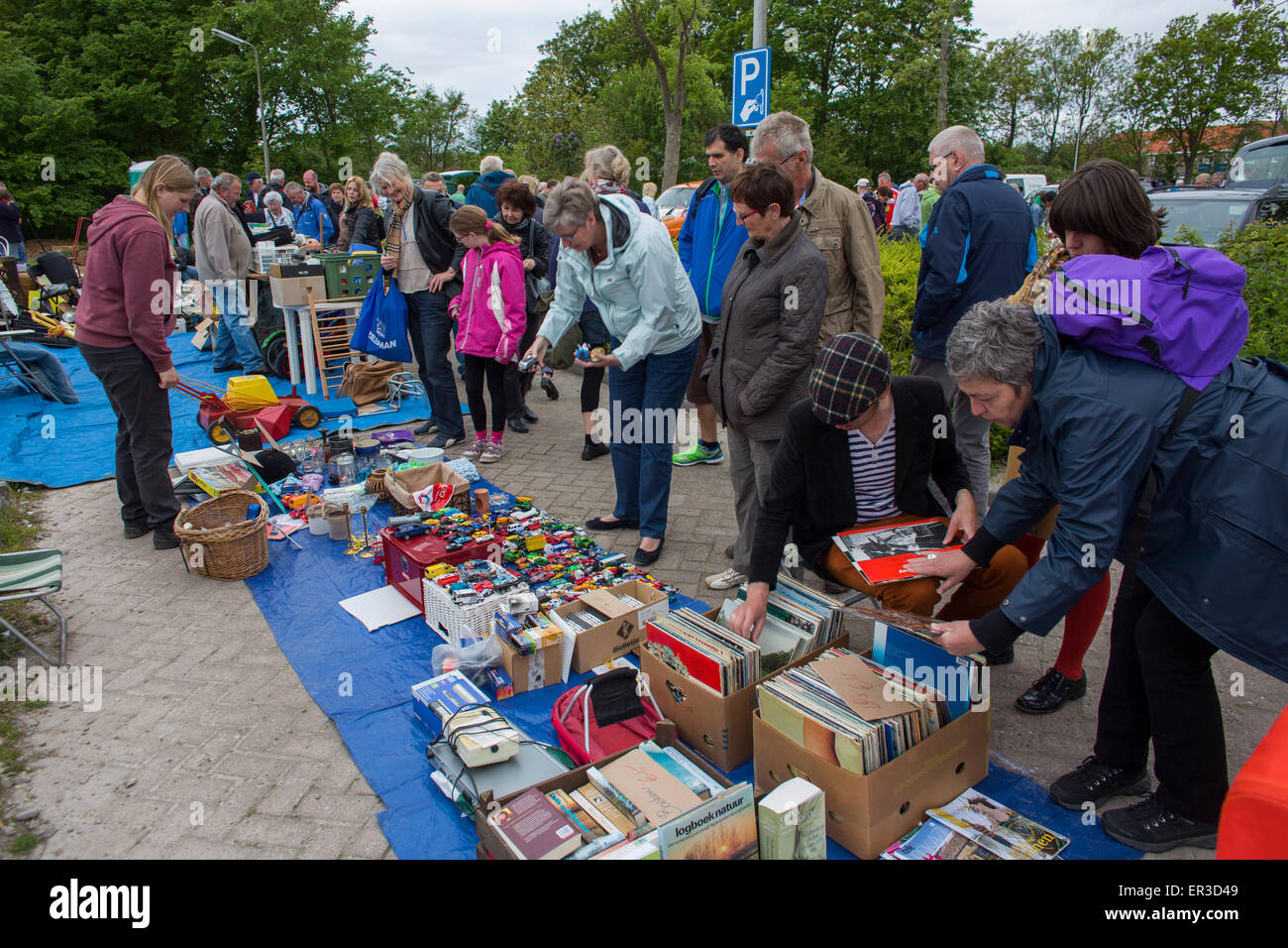 jumble sale in Holland - Stock Image