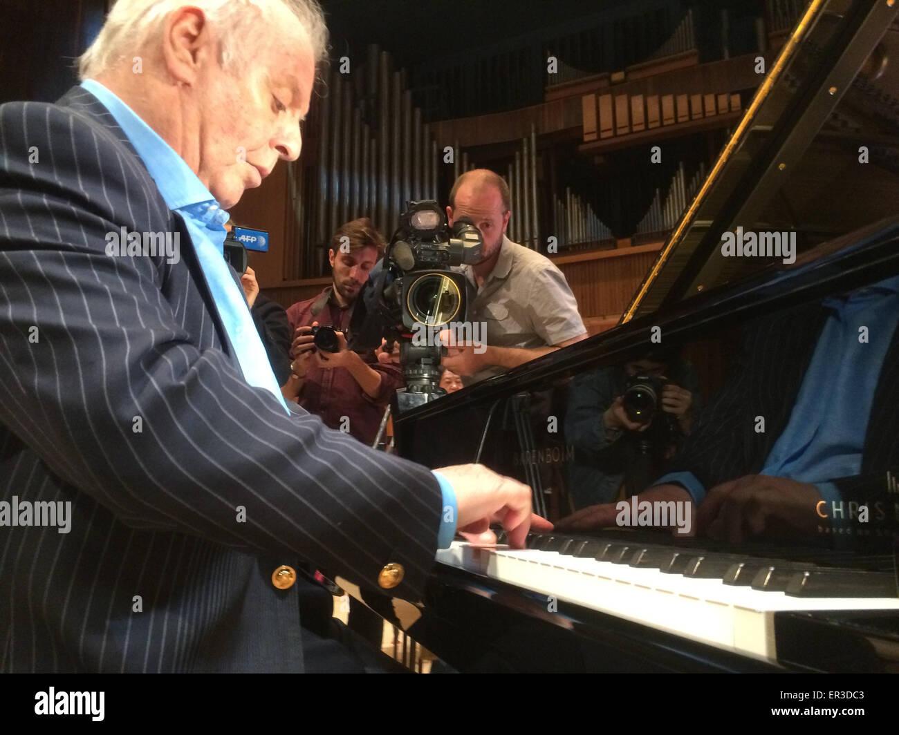 London, Britain  26th May, 2015  Pianist Daniel Barenboim