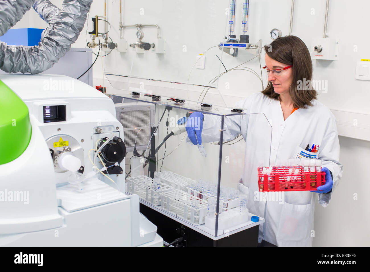 ICP analysis and detection of trace metals. Environmental Analytical Toxicology Laboratory and health, Biology and - Stock Image