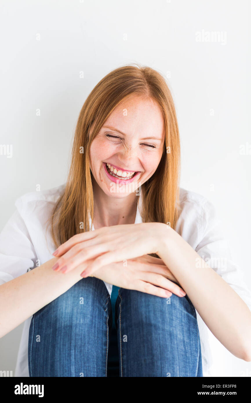 Laughing woman. - Stock Image