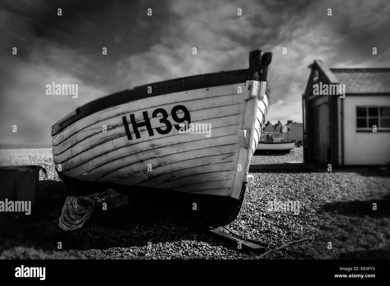 Aldeburgh Beach Suffolk - Stock Image