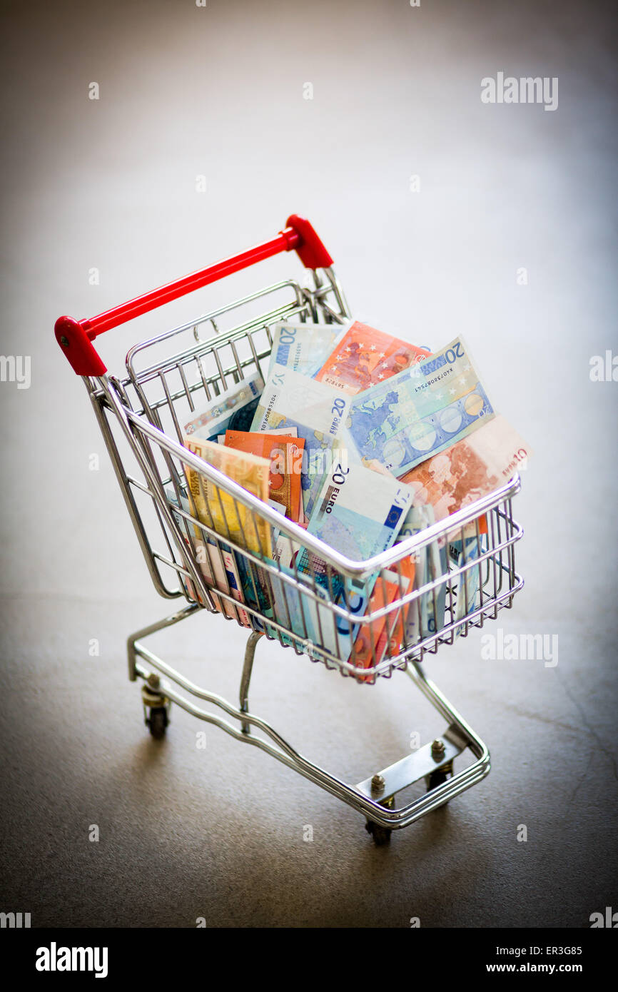 Conceptual image of purchasing power. - Stock Image