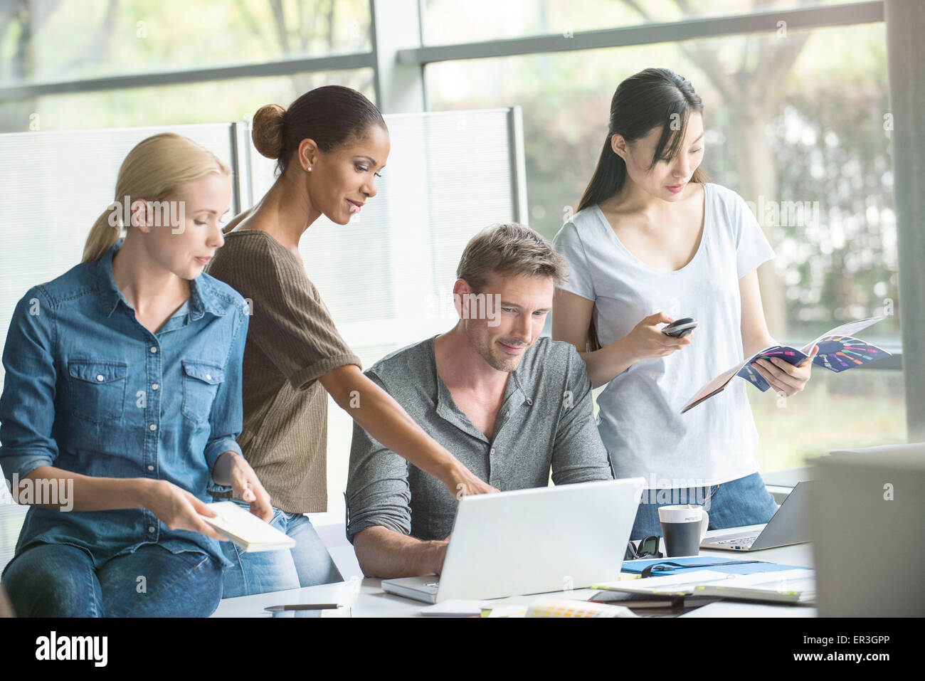 Diversity in the workplace - Stock Image