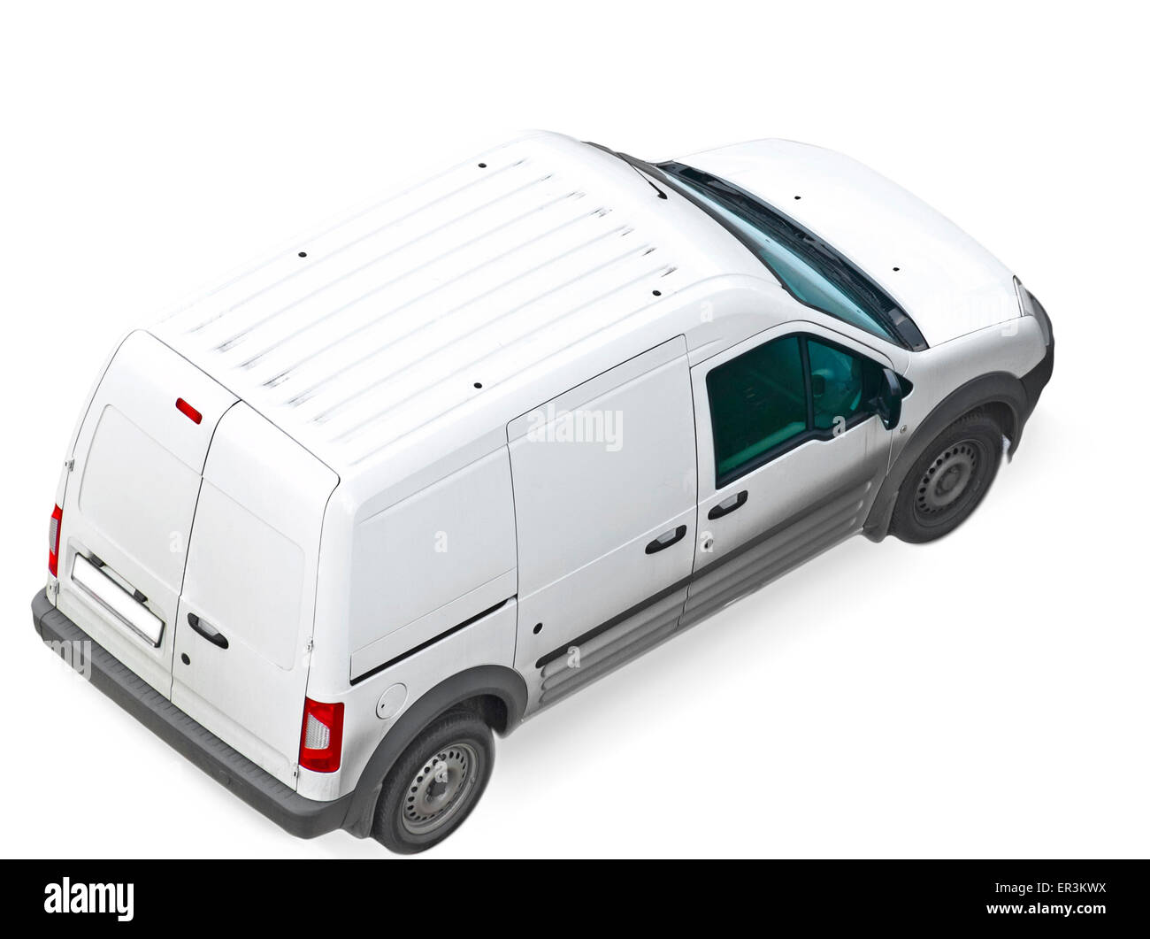 commercial car, isolated - Stock Image