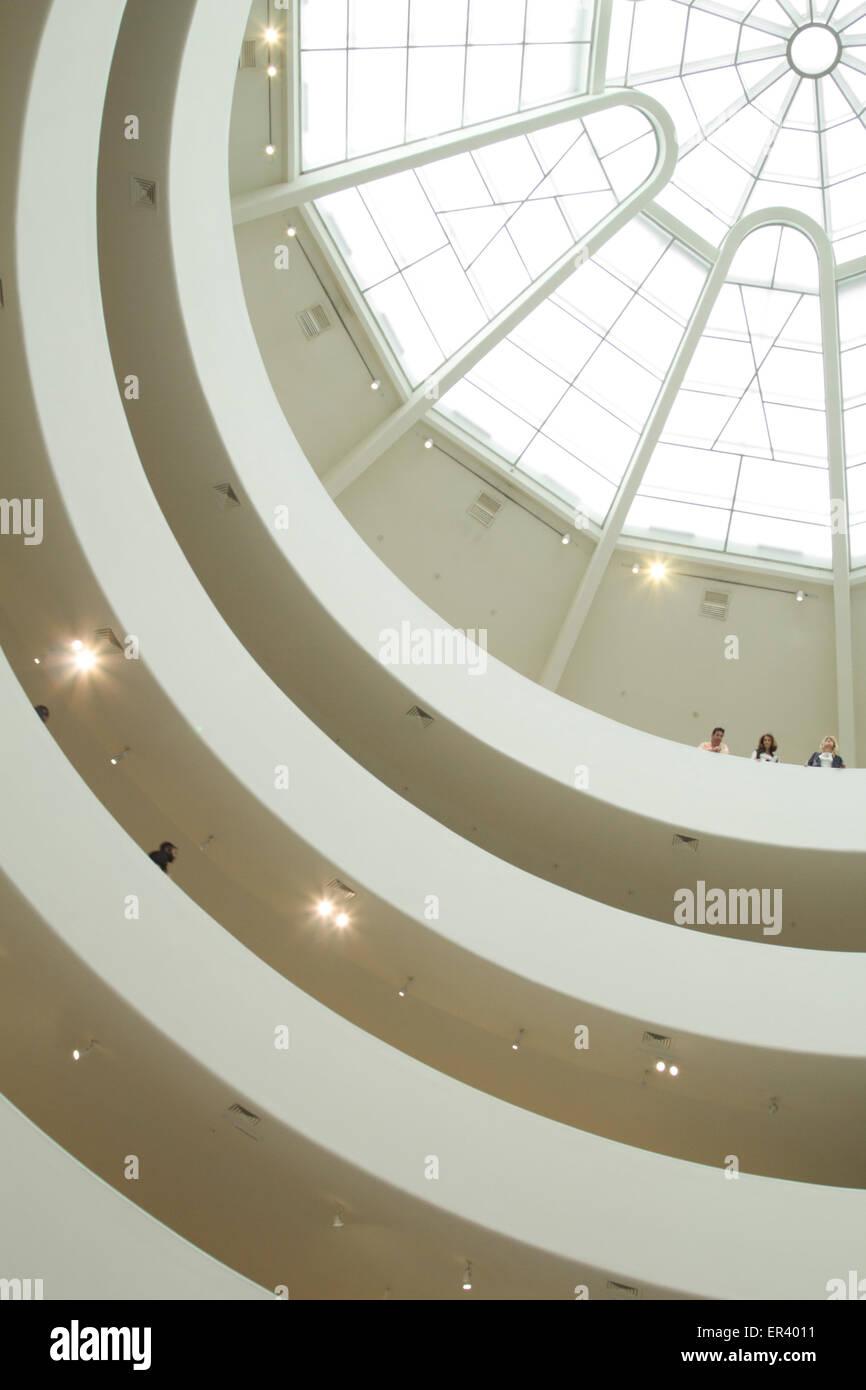Guggenheim sky light, New York - Stock Image