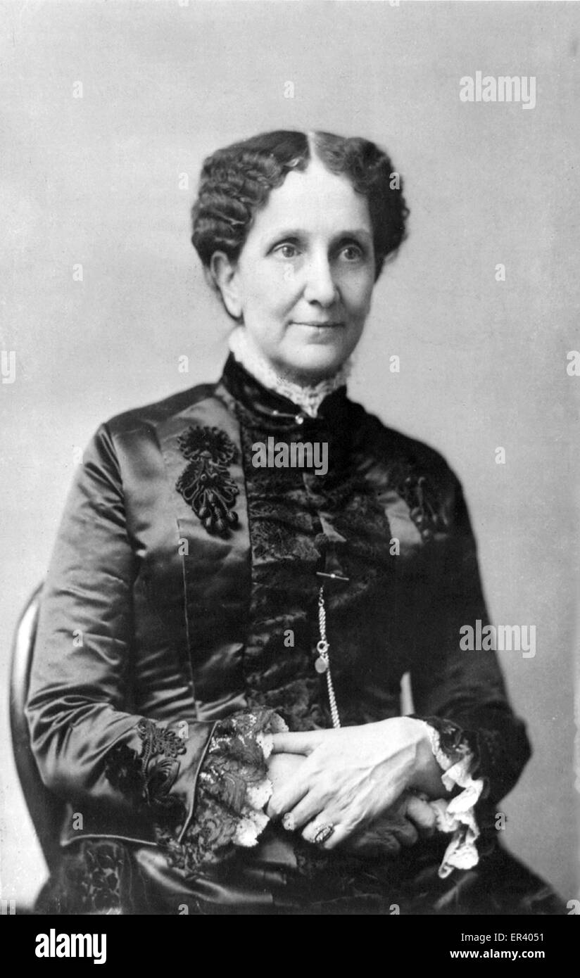 Mary Baker Eddy, founder of Christian Science religious movement in the United States - Stock Image