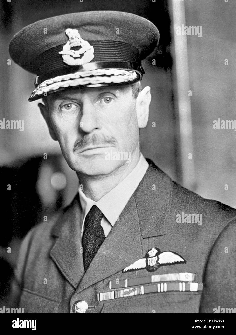 Commander-in-Chief, Air Chief Marshal Sir Hugh Dowding. Air Chief Marshal Hugh Caswall Tremenheere Dowding, 1st - Stock Image