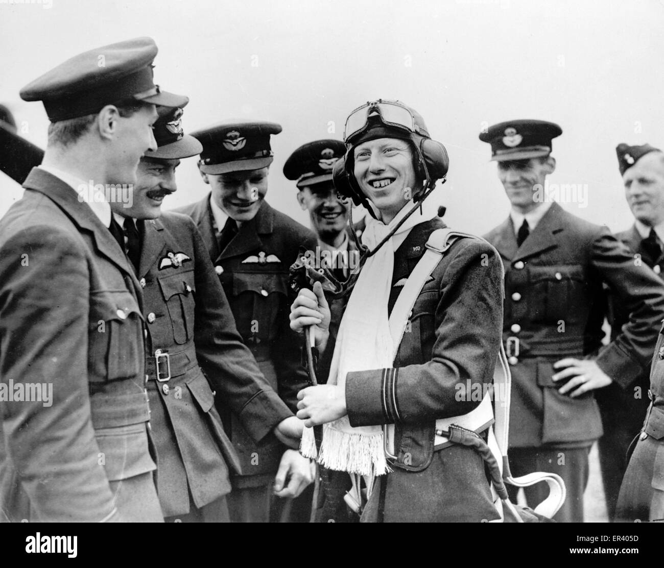 Squadron Leader James Harry 'Ginger' Lacey, British RAF fighter and pilot during the Battle of Britain - Stock Image