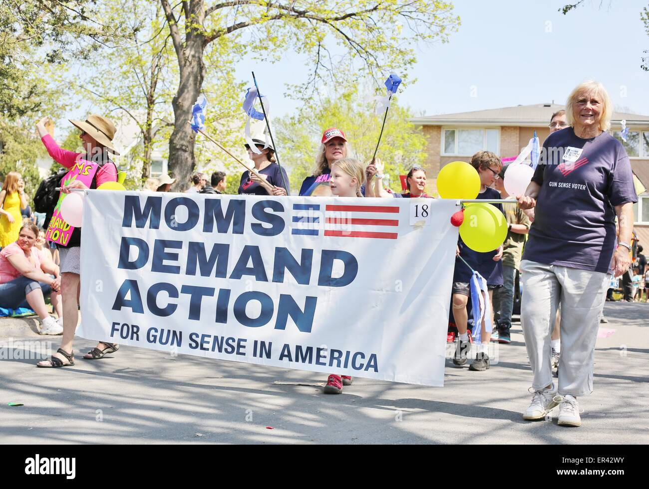 Mothers march for gun control in Minneapolis, Minnesota. - Stock Image