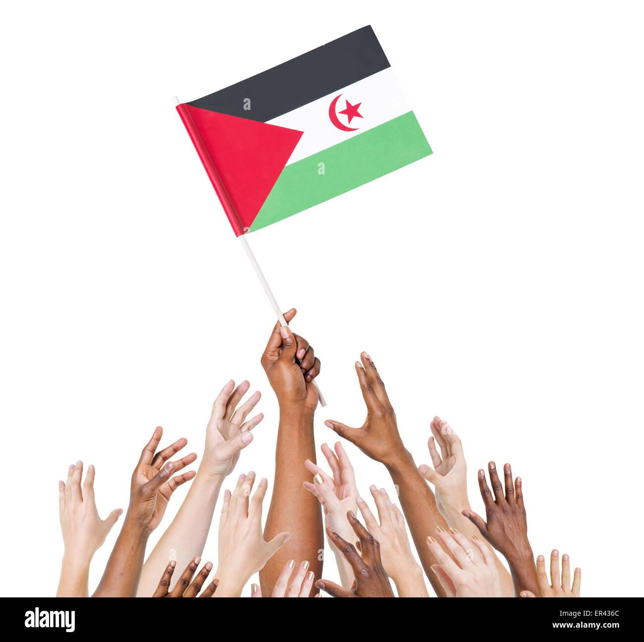 Arab Democratic Republic Sahrawi Western Saharan - Stock Image