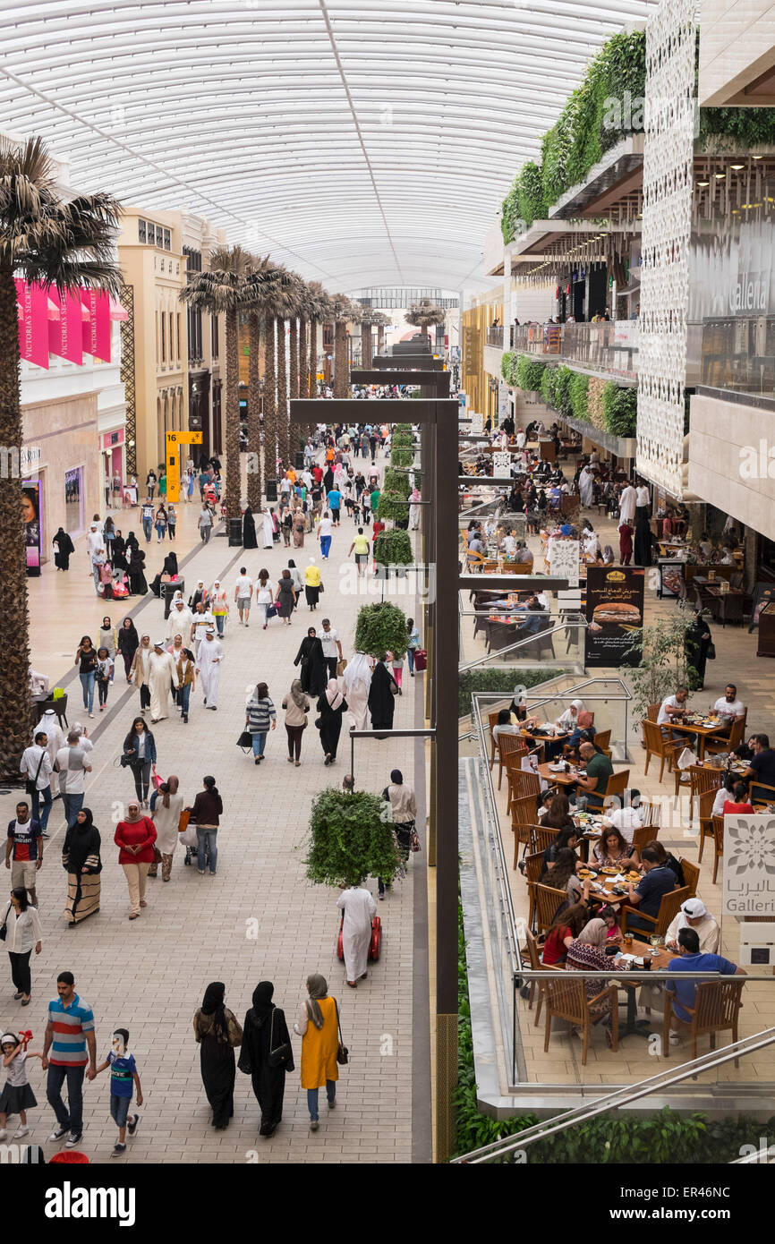 Interior of The Avenues modern upmarket shopping mall in Kuwait City, Kuwait. - Stock Image