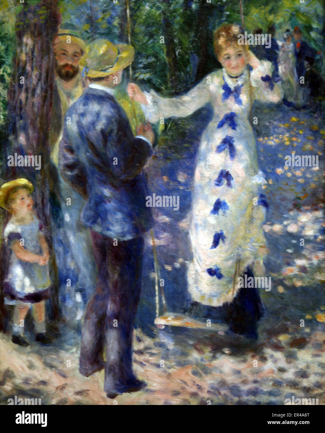 La balançoire      The swing  by  Pierre-Auguste Renoir (1876) - Stock Image