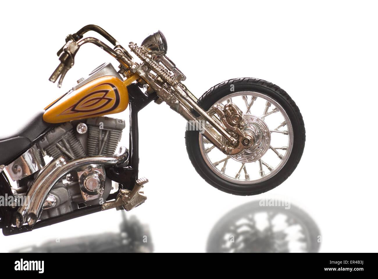 Motorcycle isolated on white background - Stock Image