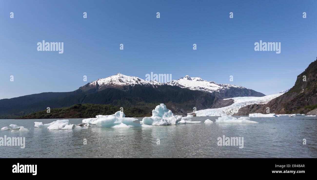 Alaska's Mendenhall Glacier in Juneau - Stock Image