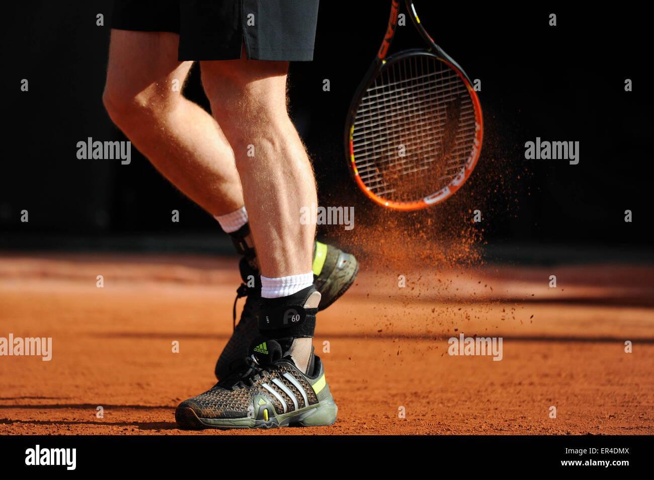 illustration chaussures - 25.05.2015 - Jour 2 - Roland Garros 2015.Photo : Nolwenn Le Gouic/Icon Sport - Stock Image