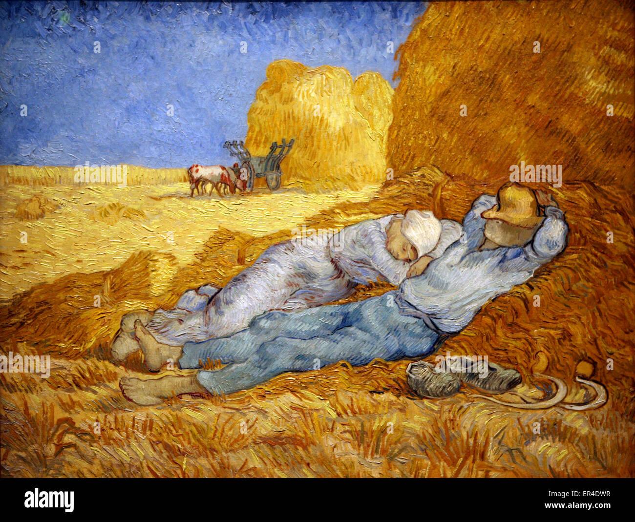 Vincent van Gogh - La Meridienne or La siesta - Stock Image
