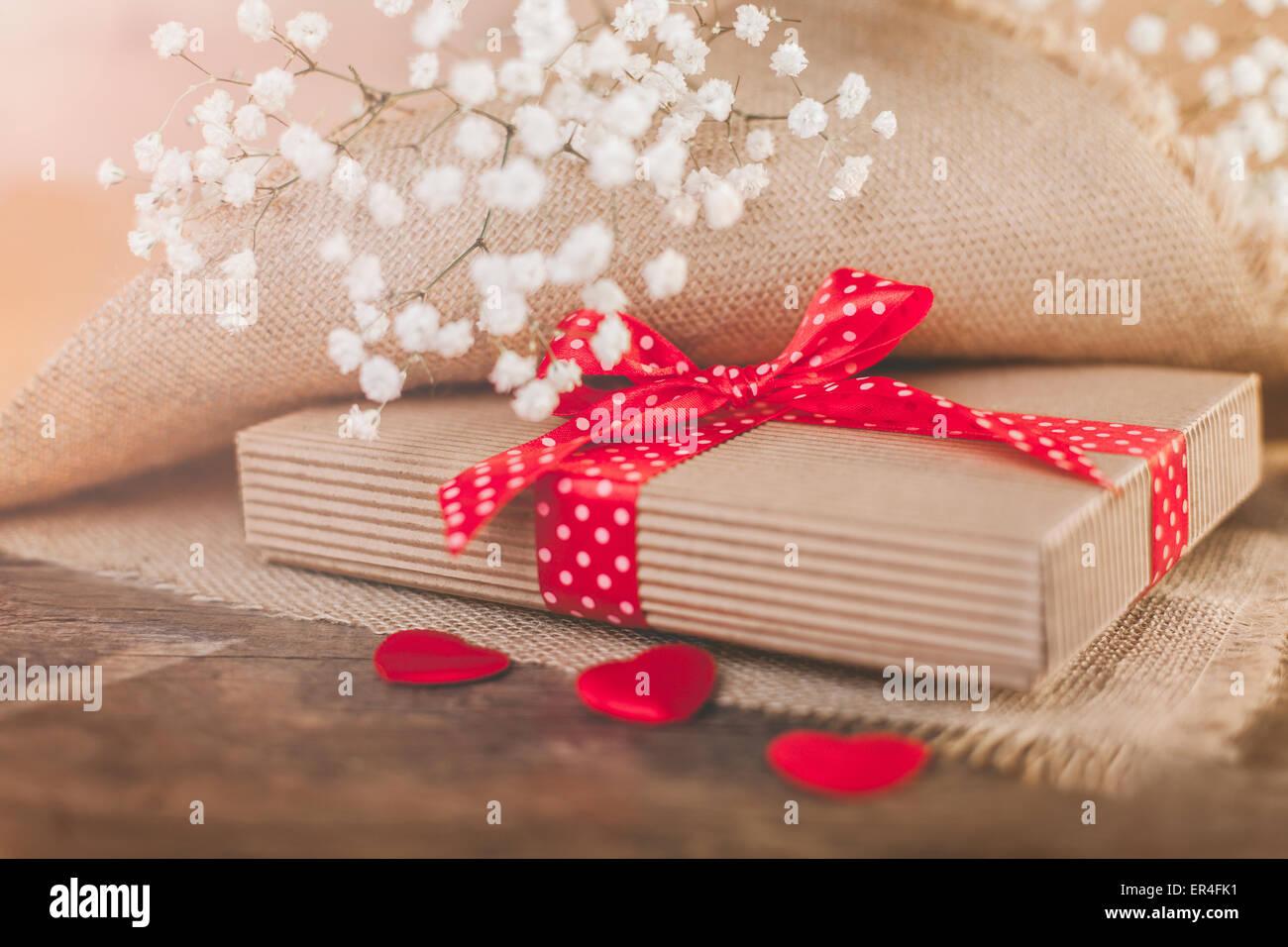 Valentines day present - Stock Image